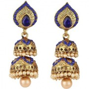 Jewels Gehna Traditional Alloy Party Wear Fashion Designer Jhumka Jhumki Earring Set For Women Girls