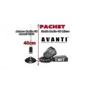 Statie Radio CB AVANTI Micro 4w Autosquelch + Antena Radio CB AVANTI Uno 40cm cu magnet 145pl