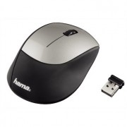 Mouse, HAMA M2150, Wireless, Black/Silver (53854)