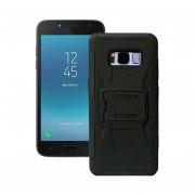 Funda Samsung J250 Galaxy J2 Pro 2018 Robot Uso Rudo Con Clip - Negro