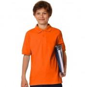 B&C Polo shirt oranje voor jongens