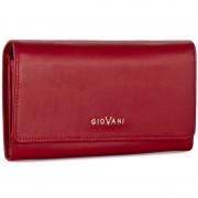 Nagy női pénztárca GIOVANI - CE-008-D Czerwony L/Matowy
