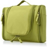 Kuber Industries Canvas Toiletry Kit Bag for Women and Men for Travel, Shaving kit Bag for Men, Travel Pouches for Women for Cosmetics and Makeup (Green) -CTKTC38999 Travel Toiletry Kit(Green)