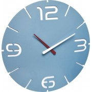 Ceas de perete cuarţ 350 x 35 mm albastru marin TFA Dostmann 60.3047.14