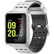"""Bratara Fitness iUni M88 Plus, Display OLED 1.3"""", Bluetooth, Waterproof (Alb/Negru)"""