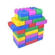 VSHINE Mega Construction Block set Construction Assembly for kids - Jumbo Blocks 48 Pieces Set