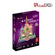 CubicFun Catedrala Sf Vasile Puzzle 3D cu LED 224 de piese