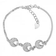 Silvego PRIA stříbrný elegantní náramek s micro zirconia 17,5-20cm - EWEB00038