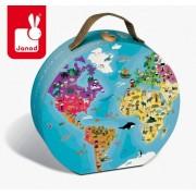 JANOD Puzzle Błękitna Planeta - w walizce, dwustronne, 208 elementów,