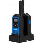 Alecto FR-125 Walkie Talkie 7 km - Inclusief laadstation en oplaadbare batterijen - Zwart / Blauw