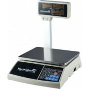Cantar Electronic Comercial Hausberg Capacitate 30 Kg Afisaj LCD cu Led-uri Functie calcul pret Afisaj dublu fata si spate Argintiu