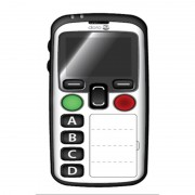Doro Mobile DORO Secure 580,Blanc 4 touches memo, Géolocalisation