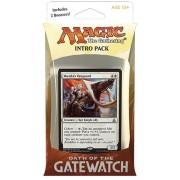 Magic the Gathering: MTG Oath of the Gatewatch: Intro Pack / Theme Deck: Desperate Stand (includes 2 Booster Packs & Alternate Art Premium Rare Promo) White / Black - Munda's Vanguard