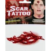 Blodigt Sår m/Ben - Falsk Tatuering