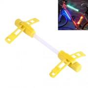 Bicycle Glo-sticks Light Strip Lamp Safety Warning LED Light Side Light with Lighting / Fast Flashing / Slow Flashing Modes(Yellow)