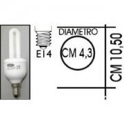 Lampada risparmio energetico 13W E14 2 tubi Kapta