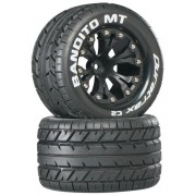 Duratrax Bandito MT 2.8 Truck Mounted 1/2 Offset C2 Tires (2-Piece), Black