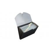 Idena Fächermappe mit 12 Fächern, DIN A4, grau/schwarz
