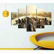 Tablou decorativ multicanvas Miracle, 5 Piese, 236MIR1904, Multicolor