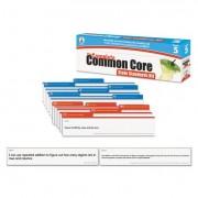 Common Core State Standard Pocket Chart Cards, Language Arts & Math, Grade 5