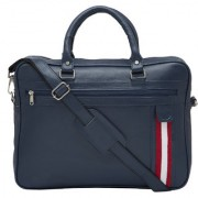 MBOSS 15.6inch Faux Leather Laptop / Messenger Bag PFB 005 BLUE