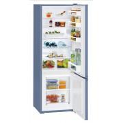 Combina frigorifica Liebherr CUfb 2831, 265 L, SmartFrost, Control mecanic, 2 sertare legume, Raft sticle, H 161.2 cm, A++, Frozen blue