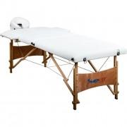 Prenosné masážne ležadlo DELUXE MOVIT biele 185 x 80 cm