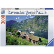 Puzzle fiordul Sognefjord, Norvegia 3000 piese Ravensburger