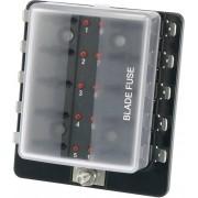 Suport siguranta auto cu led stare tip R3-76-01-3L110, adecvat pentru 10 sigurante plate standard 19 mm