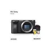 Câmera digital Sony Alpha A6500 Mirrorless (Somente Corpo), com Cartão de 32gb (C/10), Bolsa, Tripé de mesa e Kit Limpeza