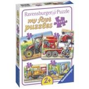 Primul Meu Puzzle Utilaje Agricole, 2/4/6/8 Piese Ravensburger