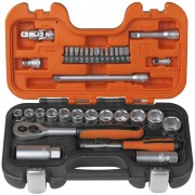 "BAHCO Socket Set 1/4"" and 3/8"" 34 pcs S330"