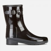 Hunter Women's Original Refined Short Gloss Wellies - Black - UK 3 - Black