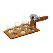 Pálinkás pohár szett 6db csengős vakolókanálban 80-0229 - Tréfás Pálinkás szett