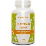 Alpha plus D3-vitamin 3000 IE med K2 och Astaxantin 180 kapslar