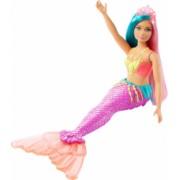 Papusa Barbie printesa Dreamtopia cu coronita roz deschis