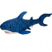 Blue Tiger Shark Plush Stuffed Animal Toy by Fiesta Toys - 27""