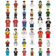 ShineMore Beauty Mini Figures Set-36 Piece Minifigures Set of Professions, Building Bricks Community People from Different Industries Complete, Blocks Kids Educational Toy Gift (36 Pieces)