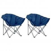 vidaXL Cadeiras lua dobráveis 2 pcs azul