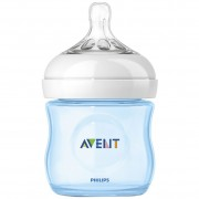 Philips AVENT - Biberon Natural, 125 ml, Bleu, 0 luni +