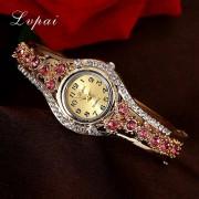 Lvpai 2016 Brand Women Watches Fashion Flower Crystal Watch Wristwatches Women Dress Ladies Casual Quartz Fashion Watch