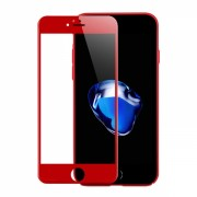 Folie protectie sticla securizata 3D curbata pentru Iphone 6 / 6s , rosu