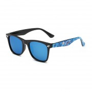 Hindfield Kids Sunglasses Ultraviolet-proof Boys Girls Brand Sunglasses 15604 Black And Blue