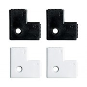 Set conectori de colt Paulmann YourLED max. 60W, 8 piese (4 x alb; 4 x negru)