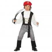 Geen Carnavalskleding piraat met zwaard maat 140-152 voor jongens/meisjes