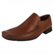 Clarks Mens Clarks Formal Slip On Shoes Ferro Step Tan (Brown) UK 6