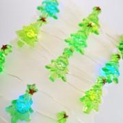 Elemes karácsonyfa fényfüzér 2 m színes