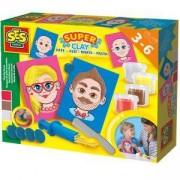 Детски занимателен комплект с пластелин - Лица, SES, 080860