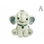 Persely baby elefánt 10cm 4470 2féle színben - Persely