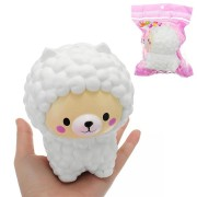 White Sheep Squishy 12*10*9.5CM Slow Rising With Packaging Collection Gift Soft Toy